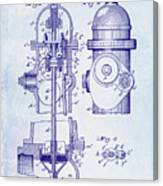 1903 Fire Hydrant Patent Canvas Print