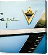 1953 Lincoln Capri Emblem Canvas Print