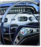 1958 Chevrolet Impala Steering Wheel Canvas Print