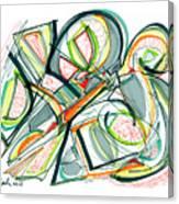 2010 Abstract Drawing Seventeen Canvas Print