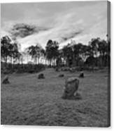 9 Ladies Stone Circle, Stanton Moor, Peak District National Park Canvas Print