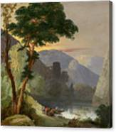 A Mountain Lake In The Italian Alps Canvas Print