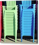 A Rainbow Of Chairs Canvas Print
