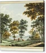A Scene In The Garden At Brandsbury Canvas Print