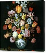 A Still Life Of Flowers Canvas Print