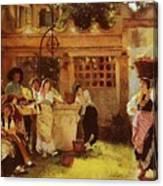 A Venetian Fan Seller Henry Woods Canvas Print
