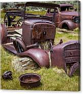 Abandoned Cars, Bodie Ghost Town Canvas Print