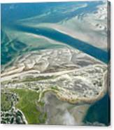 Aerial Vew Of Sandy Neck Beach In Barnstable On Cape Cod Massac Canvas Print