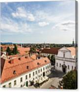 Aerial View Of Zagreb In Croatia Canvas Print