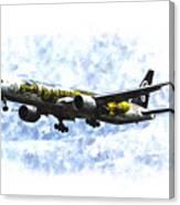 Air New Zealand Hobbit Boeing 777 Art Canvas Print