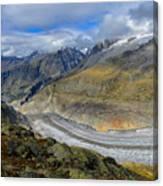 Aletsch Glacier, Switzerland Canvas Print