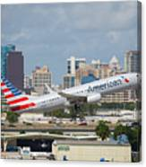 American Airlines Canvas Print