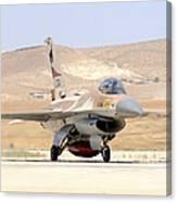An Israeli Air Force F-16a Netz Taxiing Canvas Print