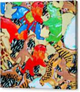Animal Cookies Canvas Print