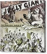 Anti-immigrant Cartoon Canvas Print