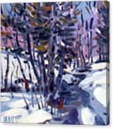 Aspen In The Snow Canvas Print