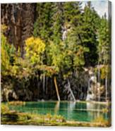 Autumn At Hanging Lake Waterfall - Glenwood Canyon Colorado Canvas Print