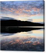 Autumn Sunset, Ladybower Reservoir Derwent Valley Derbyshire Canvas Print