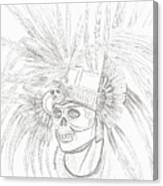 Aztec Warrior Canvas Print