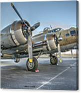 B17 Flying Fortress On The Ramp At Livermore Canvas Print