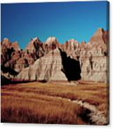 Badlands At Sunset Canvas Print