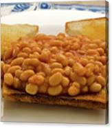 Baked Beans On Toast Canvas Print