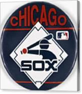 Baseball Button Canvas Print