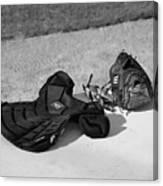 Baseball Glove And Chest Protector Canvas Print