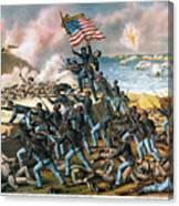 Battle Of Fort Wagner, 1863 Canvas Print