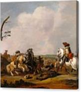 Battle Scene Canvas Print