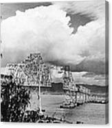 Bay Bridge Under Construction Canvas Print