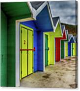Beach Huts 2 Canvas Print