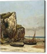 Beach In Normandy Canvas Print
