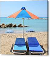 Beach Resort Canvas Print