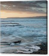 Beautiful Dramatic Sunset Over A Rocky Coast Canvas Print