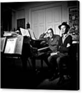 Beck And Philip Glass Photographed By Anna Webber, September 23rd, Canvas Print