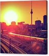 Berlin - Sunset Skyline Canvas Print