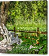 Beside The Pond Canvas Print