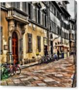 Bicycles In Florence Canvas Print