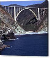 Bixby Creek Aka Rainbow Bridge Bridge Big Sur Photo  Canvas Print