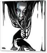 Black. Canvas Print