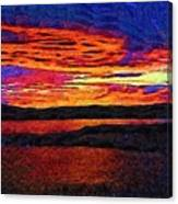 Blaze In The Sky Canvas Print