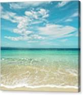 Pristine Blue Paradise Canvas Print