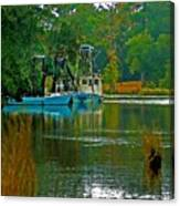 2 Blue Shrimp Boats Canvas Print