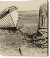 Boat At Porlock Weir. Canvas Print