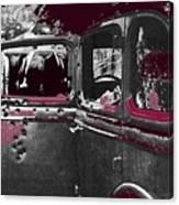 Bonnie And Clyde Death Car South Of Gibsland Toward Sailes Louisiana May 23 1933-2013 Canvas Print
