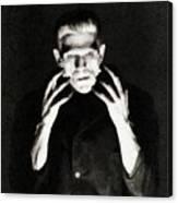 Boris Karloff As Frankenstein Canvas Print