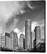 Boston Skyline 1980s Canvas Print