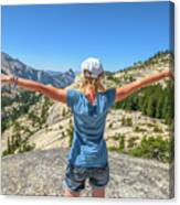 Break After Yosemite Hiking Canvas Print