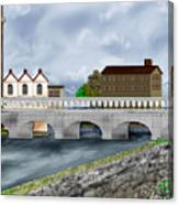 Bridge In Old Galway Ireland Canvas Print